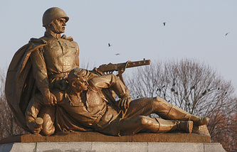 Monument of Soviet troops at the Soviet Military Cemetery in Warsaw