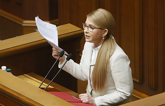 Yulia Timoshenko, leader of the Batkivshchyna party