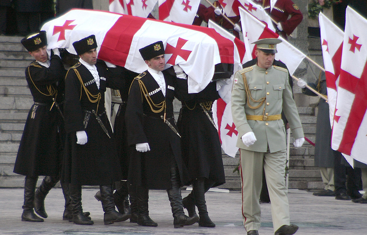 The funeral of Georgian Prime Minister Zurab Zhvania