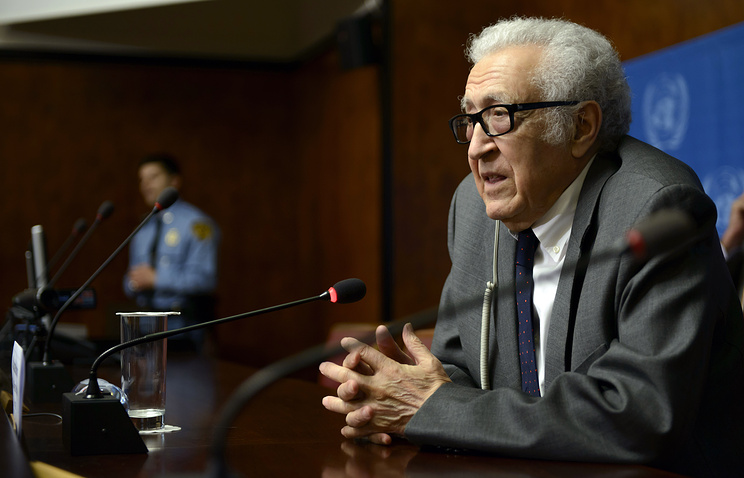 UN-Arab League Special envoy for Syria, Lakhdar Brahimi