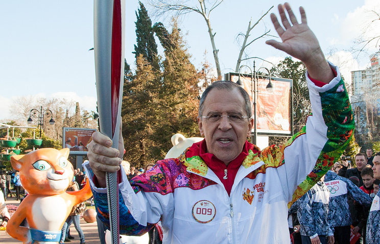 Russia's Foreign Minister Sergei Lavrov in Sochi