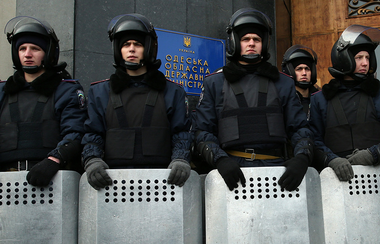 Law enforcement officers in Odessa (archive)