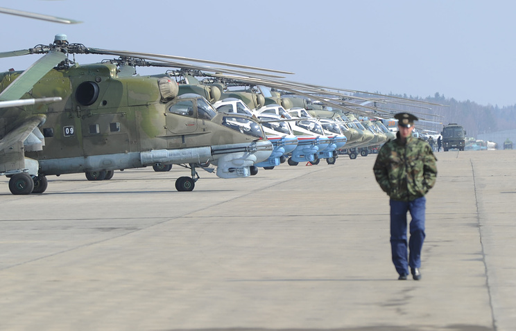 Russian Air Force's Kubinka airfield west of Moscow