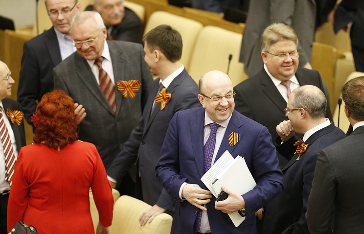 Parliamentarians after the vote