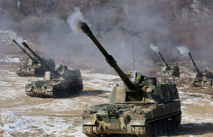 South Korean K-9 self-propelled howitzers (archive)