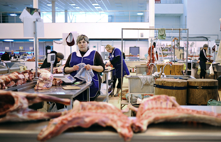 Russian meat market