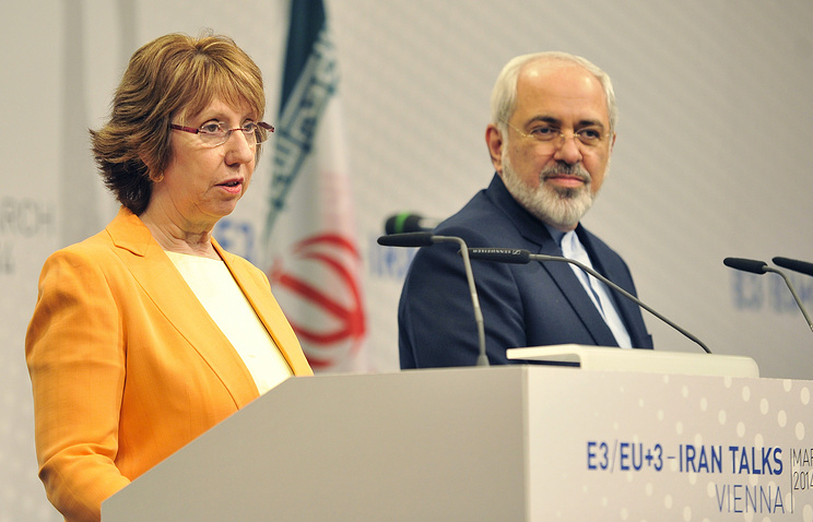 EU High Representative for Foreign Affairs Catherine Ashton and Iranian Foreign Minister Javad Zarif