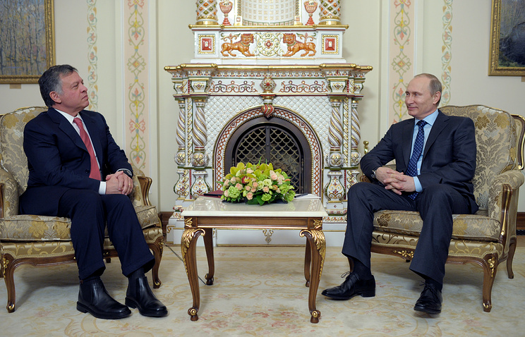 King Abdullah II of Jordan with Russian President Vladimir Putin