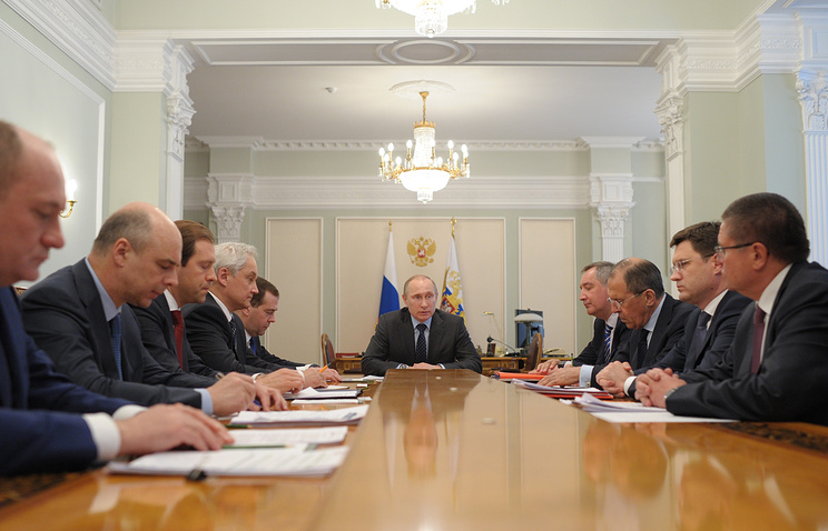 President Vladimir Putin said at the meeting with ministers