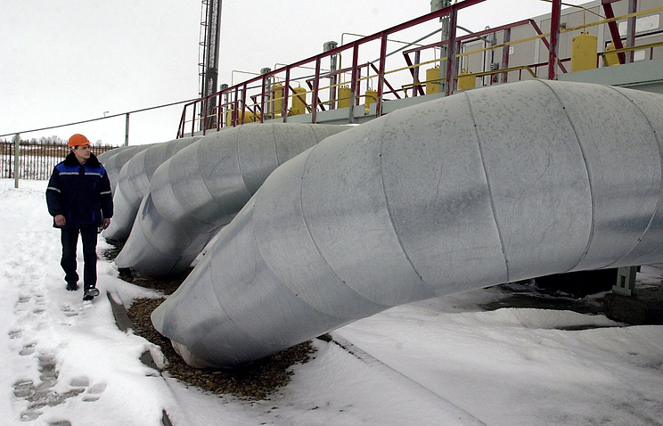 Pipeline transporting natural gas from Russia to Europe through Ukraine (archive)