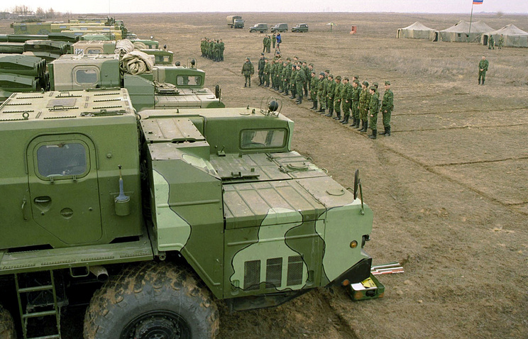 Military drills at the Kapustin Yar testing range (archive)
