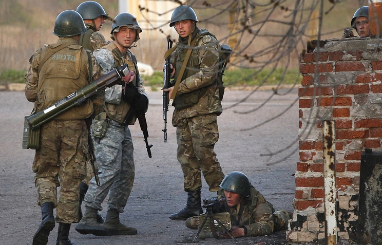 Ukrainian army troops during special operation in east Ukraine