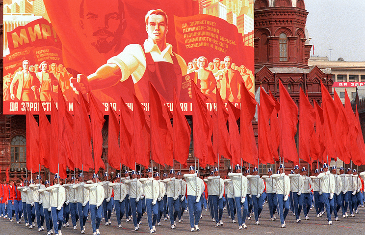 May Day parade on Red Square in Moscow, 1980