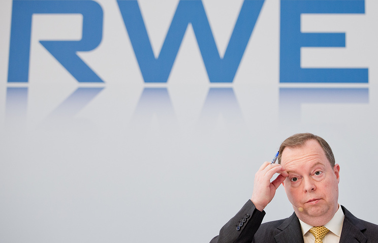 RWE AG chief executive Peter Terium