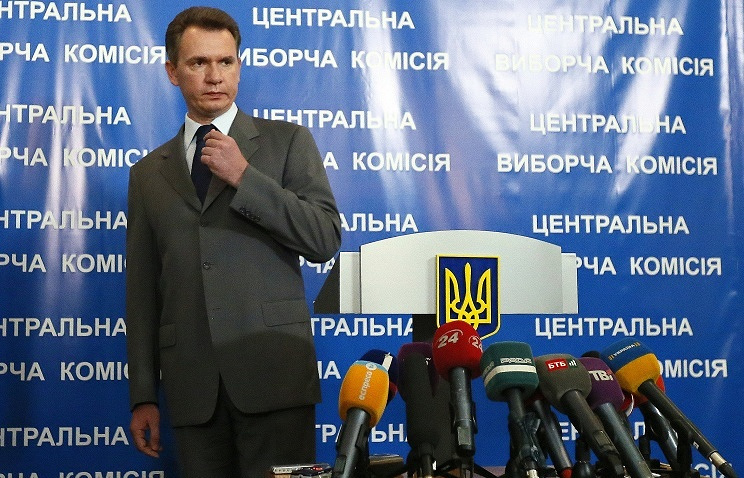 Head of Ukraine's Central Election Commission Mykhailo Okhendovsky
