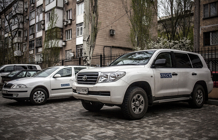 OSCE observer mission car in Sloviansk (archive)