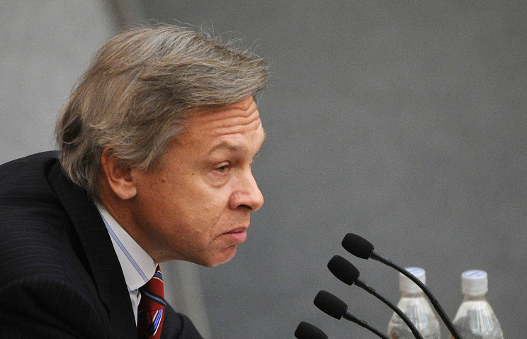 Alexei Pushkov, the head of the Russian State Duma Committee for International Affairs