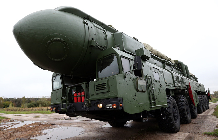 Intercontinental ballistic missile Topol-M of Russia's Strategic Missile Forces (archive)