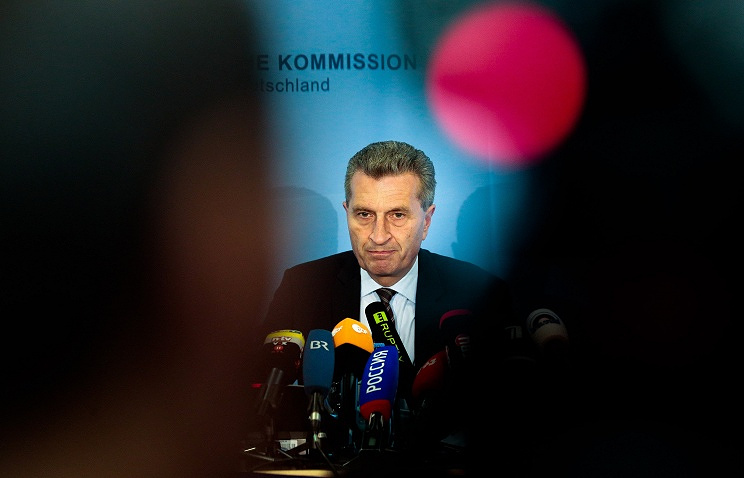 European Energy Commissioner Guenther Oettinger