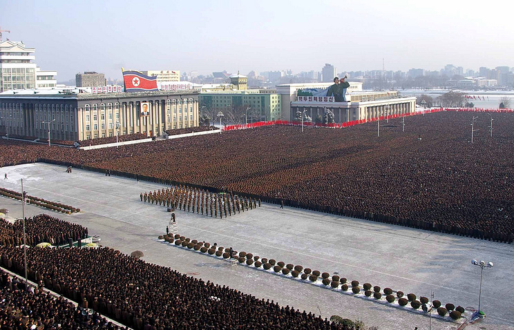 A view of Pyongyang plaza (archive)