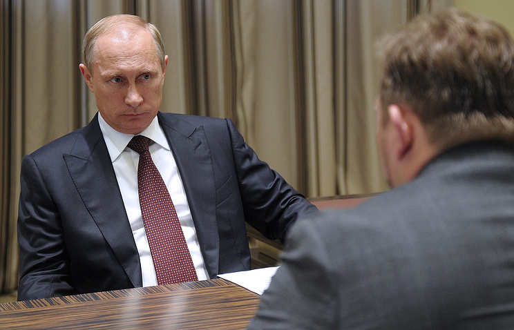Vladimir Putin in a meeting with Kirov region acting governor Nikita Belykh