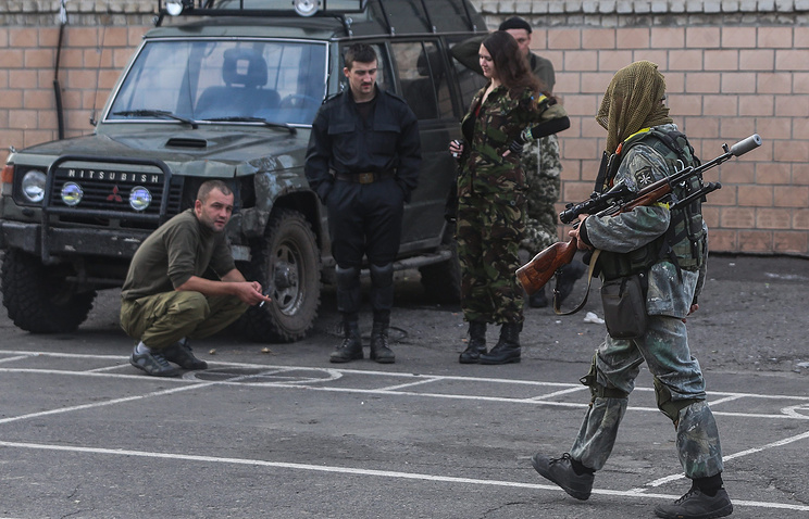 Fighters from from the National Guard's battalion Aidar