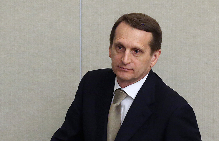 Russia's parliament State Duma lower house Speaker Sergey Naryshkin
