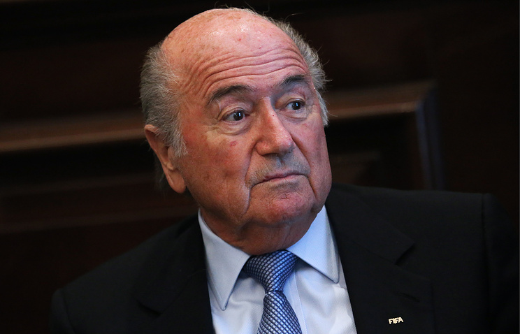 Sepp Blatter, the president of the International Federation of Football Associations
