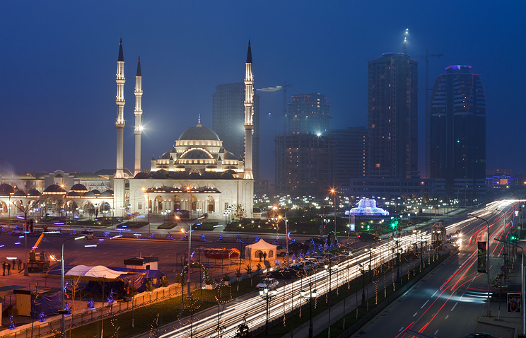 Putin Prospect in the city of Grozny, Chechnya
