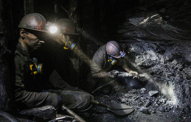 Coal miners in eastern Ukraine