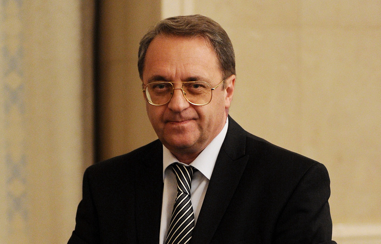Russian presidential envoy for the Middle East and African countries Mikhail Bogdanov