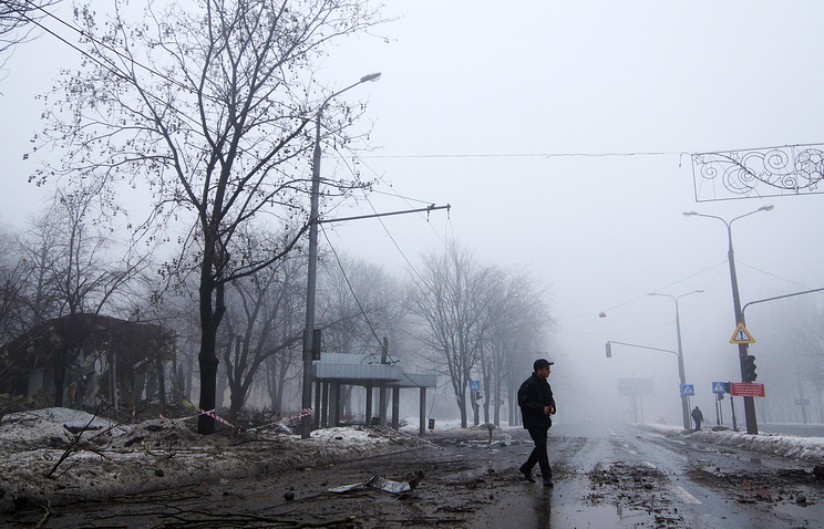 Aftermath of a shelling attack in Donetsk (archive)