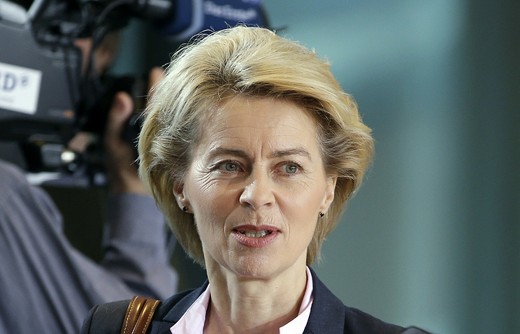 Germany's Defense Minister Ursula von der Leyen