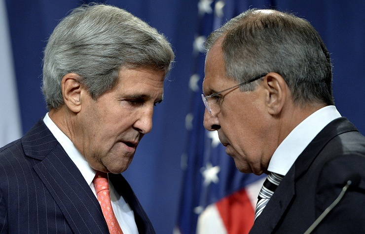 US Secretary of State John Kerry and Russian Foreign Minister Sergey Lavrov