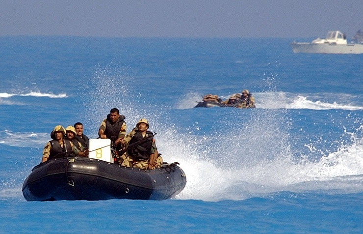 Egyptian military during drills