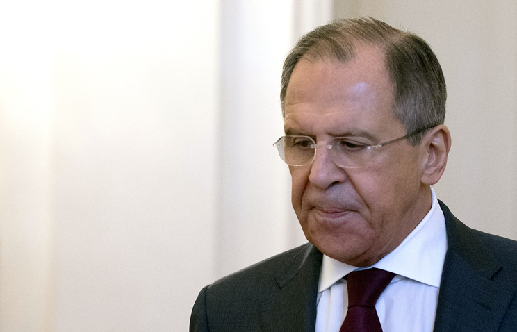 Russian Foreign Ministry Sergey Lavrov