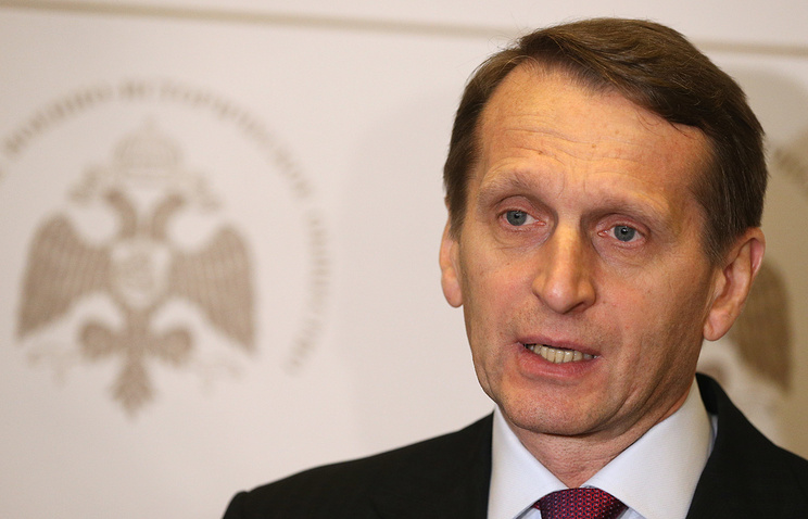Speaker of Russia's lower house of parliament, the State Duma, Sergey Naryshkin