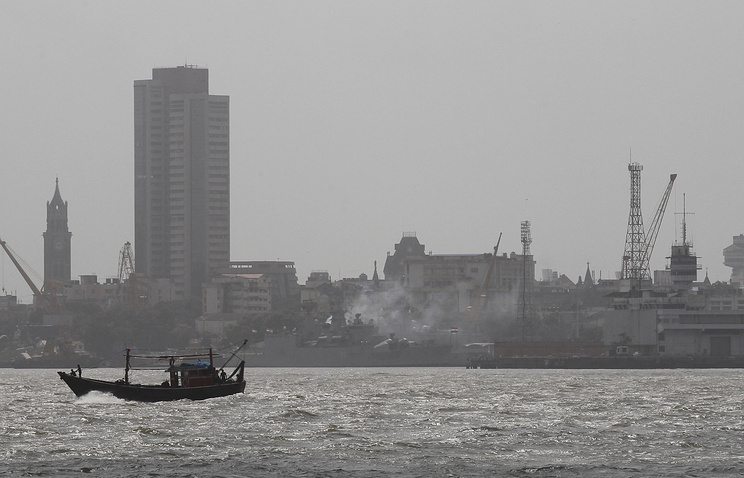 Naval dockyard in Mumbai, India