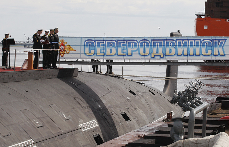 First Yasen-class submarine, the Severodvinsk, built at Sevmash