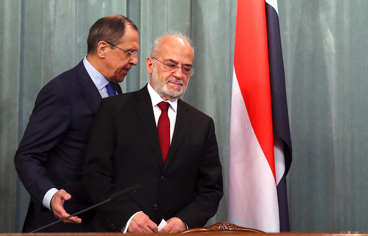Sergey Lavrov and Ibrahim al-Jaafari