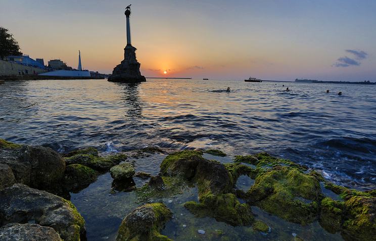View of the monument in Sevastopol, Crimea