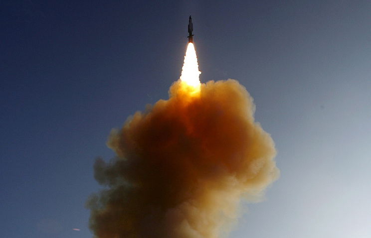 Missile launched from the US Navy AEGIS cruiser (archive)