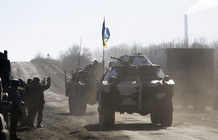 Ukrainian armored military vehicles