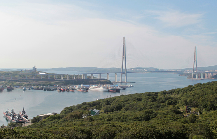 View over Vladivostok in Russia's Far East