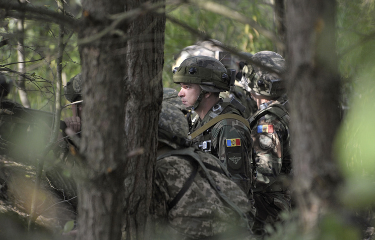 NATO military exercise near the western Ukrainian city of Lviv, Ukraine