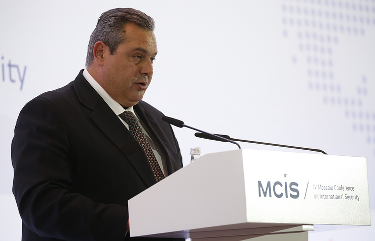 Greek Defence Minister Panos Kammenos