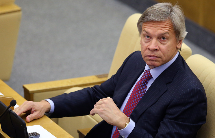 Head of the foreign affairs committee of Russia's lower house of parliament, the State Duma, Alexei Pushkov