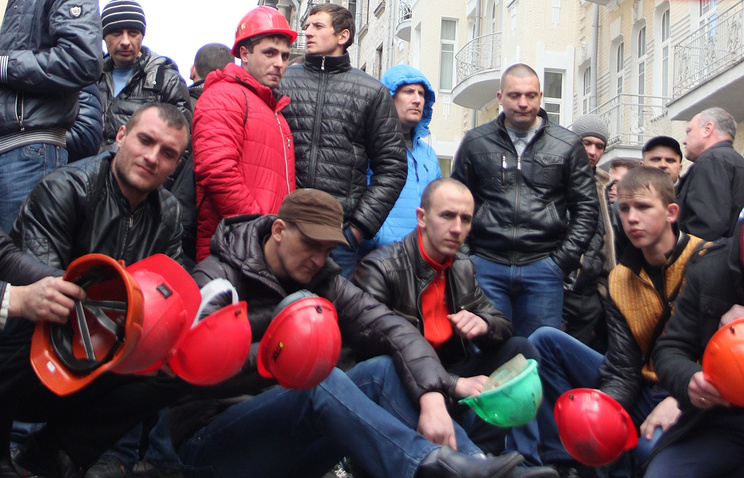 Miners protesting in Kiev (archive)