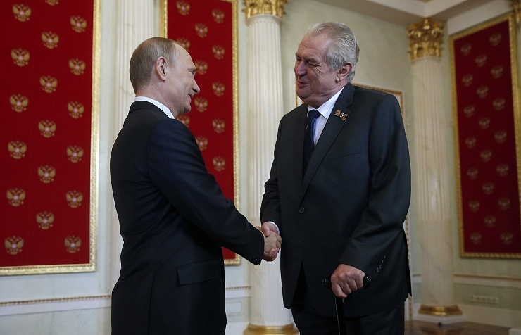 The President of Russia Vladimir Putin and President of the Czech Republic miloš Zeman
