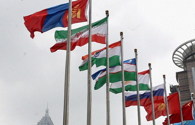National flags of SCO member-states